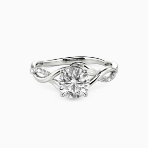 10K White Gold Here With You Engagement Side Stone Rings