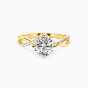 10K Gold I Will Love You Past Forever Engagement Side Stone Rings