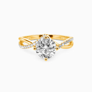 14K Gold I Will Love You Past Forever Engagement Side Stone Rings