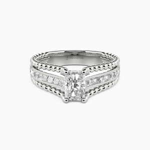 10K White Gold One Life One Love Engagement Side Stone Rings
