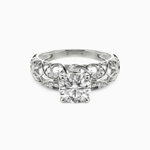 10K White Gold The Starry Heavens Engagement Side Stone Rings