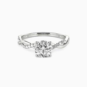 10K White Gold Be Full Of Tenderness Engagement Side Stone Rings