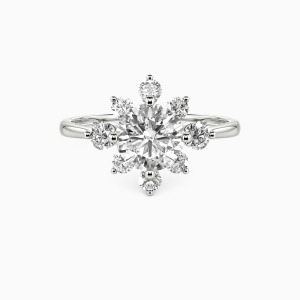 10K White Gold You Light Up My Life Engagement Side Stone Rings