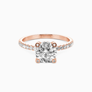 10K Rose Gold The Story Of Our Lives Engagement Side Stone Rings