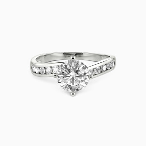 10K White Gold You Are My Preference Engagement Side Stone Rings