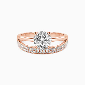 10K Rose Gold The Beginning Of A Happy Chapter Engagement Side Stone Rings