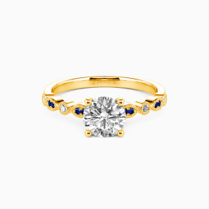10K Gold I Have, I Do & I Will Engagement Side Stone Rings