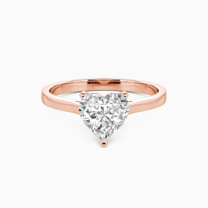 14K Rose Gold Give You My All Engagement Solitaire Rings