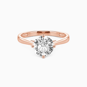 14K Rose Gold  I Promise To Be With You Forever Engagement Solitaire Rings