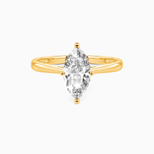 14K Gold  I Promise To Be With You Forever Engagement Solitaire Rings