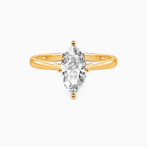 18K Gold  I Promise To Be With You Forever Engagement Solitaire Rings