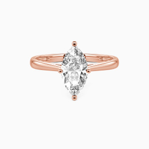 18K Rose Gold  I Promise To Be With You Forever Engagement Solitaire Rings