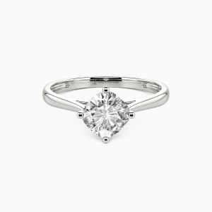 10K White Gold  I Promise To Be With You Forever Engagement Solitaire Rings