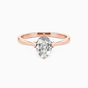 10K Rose Gold  I Promise To Be With You Forever Engagement Solitaire Rings