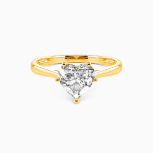10K Gold  I Promise To Be With You Forever Engagement Solitaire Rings