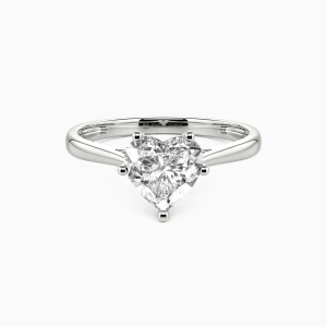 18K White Gold  I Promise To Be With You Forever Engagement Solitaire Rings