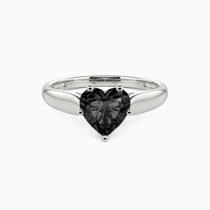 10K White Gold Always Love You Engagement Solitaire Rings
