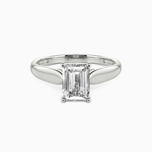 14K White Gold Always Love You Engagement Solitaire Rings