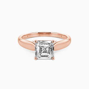 14K Rose Gold Always Love You Engagement Solitaire Rings