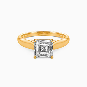 18K Gold Always Love You Engagement Solitaire Rings