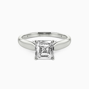 18K White Gold Always Love You Engagement Solitaire Rings