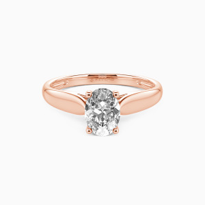 10K Rose Gold Always Love You Engagement Solitaire Rings