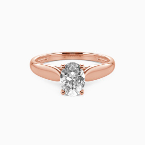 18K Rose Gold Always Love You Engagement Solitaire Rings