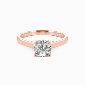 10K Rose Gold Love Story Engagement Solitaire Rings