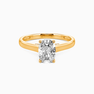 18K Gold Love Story Engagement Solitaire Rings