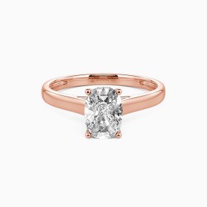 18K Rose Gold Love Story Engagement Solitaire Rings