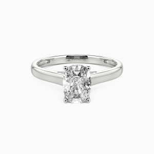 18K White Gold Love Story Engagement Solitaire Rings