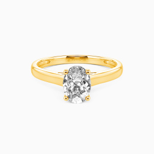 10K Gold Love Story Engagement Solitaire Rings