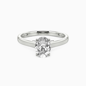 14K White Gold Love Story Engagement Solitaire Rings