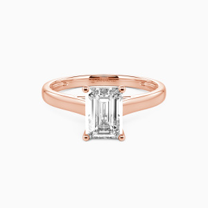 14K Rose Gold Love Story Engagement Solitaire Rings