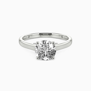 10K White Gold Love Story Engagement Solitaire Rings