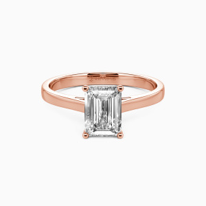 18K Rose Gold Give You My All Engagement Solitaire Rings