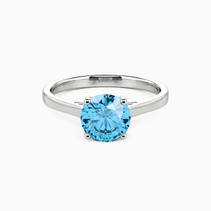 10K White Gold Give You My All Engagement Solitaire Rings