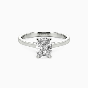 18K White Gold Give You My All Engagement Solitaire Rings