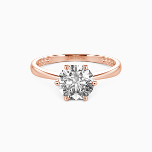 14K Rose Gold You Mean The World To Me Engagement Solitaire Rings