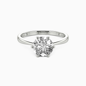 18K White Gold You Mean The World To Me Engagement Solitaire Rings