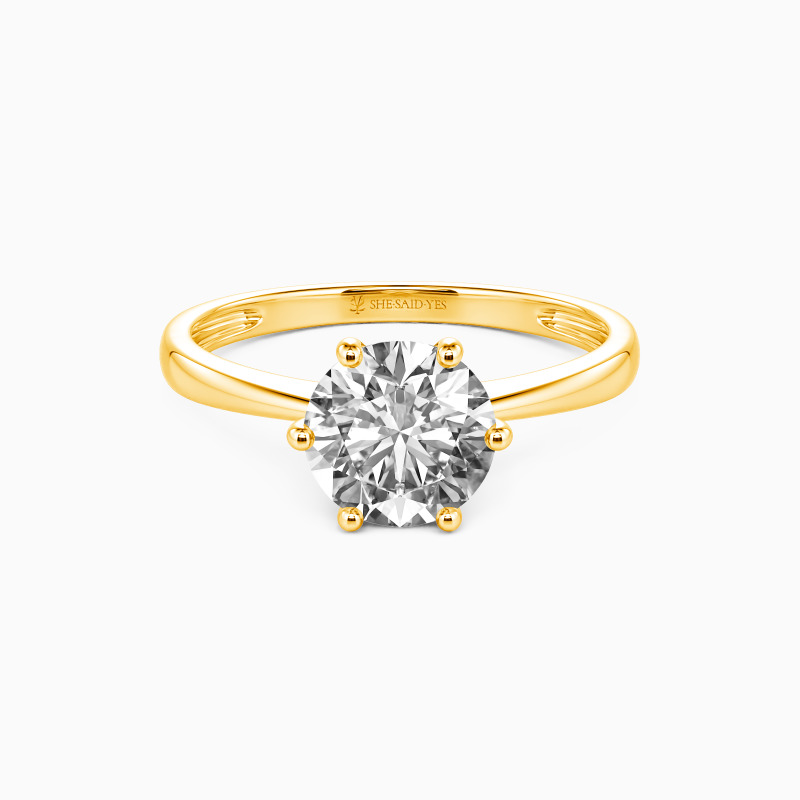 """SHE·SAID·YES """"You Mean The World To Me"""" Round Cut Engagement Ring"""