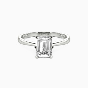 10K White Gold You Mean The World To Me Engagement Solitaire Rings