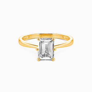 14K Gold You Mean The World To Me Engagement Solitaire Rings