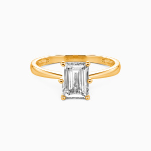 18K Gold You Mean The World To Me Engagement Solitaire Rings