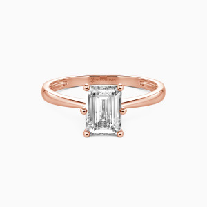 18K Rose Gold You Mean The World To Me Engagement Solitaire Rings
