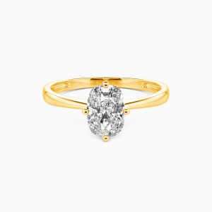 10K Gold You Mean The World To Me Engagement Solitaire Rings