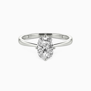 14K White Gold You Mean The World To Me Engagement Solitaire Rings
