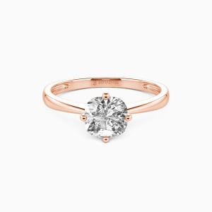 10K Rose Gold You Mean The World To Me Engagement Solitaire Rings