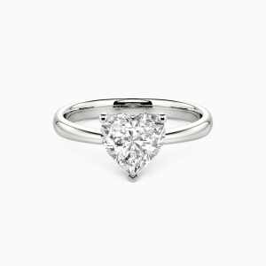 10K White Gold My Hope Engagement Solitaire Rings