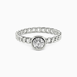 10K White Gold Someone Destined To Meet Engagement Solitaire Rings